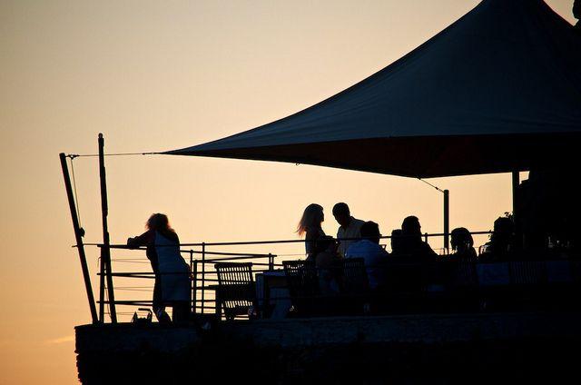 A Pié de Mà Restaurant at Sunset ... Riomaggiore Cinque Terre