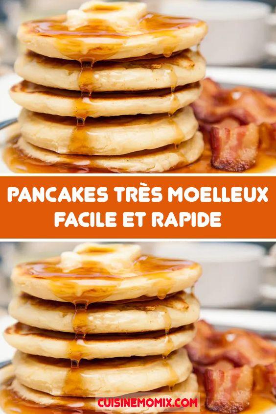 Pancakes très moelleux facile et rapide en 2020   Recette ...