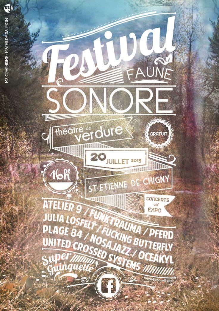 affiche festival faune sonore - MS Graphisme