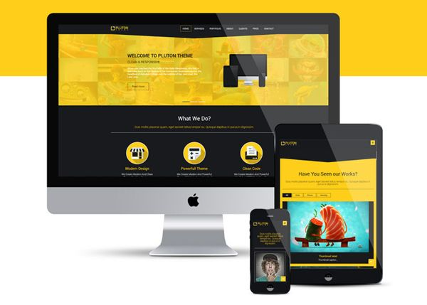 Free Pluton Single Page Bootstrap Html5 Css3 Template Resources Business Website Templates Html