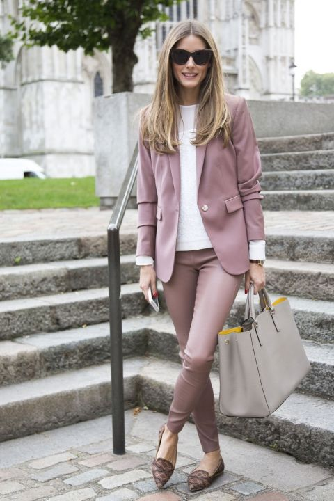 Olivia Palermo Is Pretty In Pink During London Fashion Week, 2013