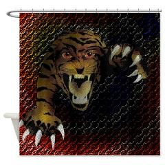 tiger_rings_4 Shower Curtain Grayson Art Home decor