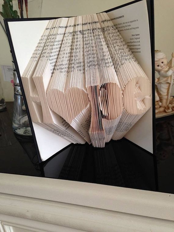 Book folding pattern for Hope with a heart by BookFoldingForever