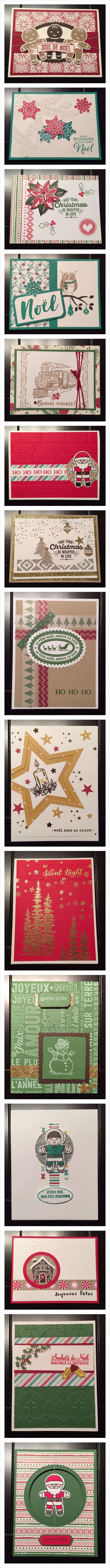L'Estampe Frivole (Stampin'UP) Christmas Cards 2 Cartes de Noel 2