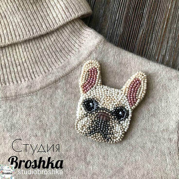 229 отметок «Нравится», 4 комментариев — 89640542035 Публикации в вацап (@biser_prodaja) в Instagram: «@Regrann from @studiobroshka - This French bulldog brooch was made for Samantha from Richmond …»
