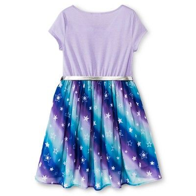 Girls' Hasbro My Little Pony Dress - Lilac XL (14-16), Purple