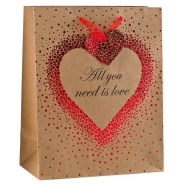 Valentine's Day Craft Bag With Foil Heart
