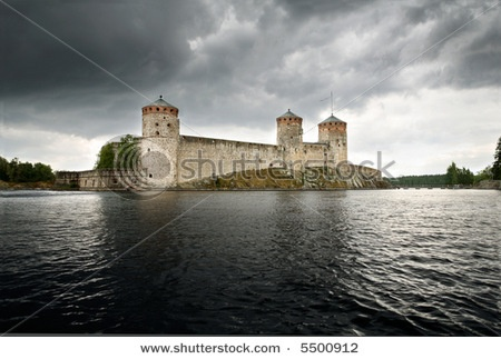 Savonlinna Opera Festival in the Lake District of Finland Castle on the water