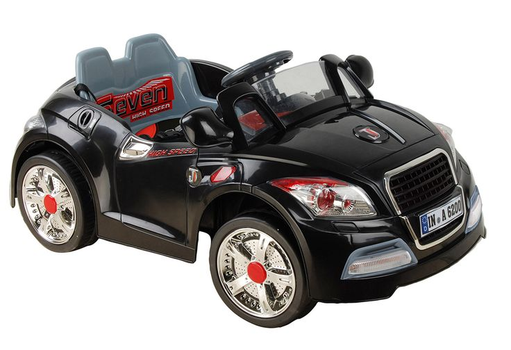 Kids Cars 12 Volt Electric Battery Operated Ride On Quatro Sports Saloon - Black
