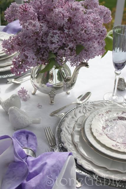 StoneGable: Lilac Tablescape