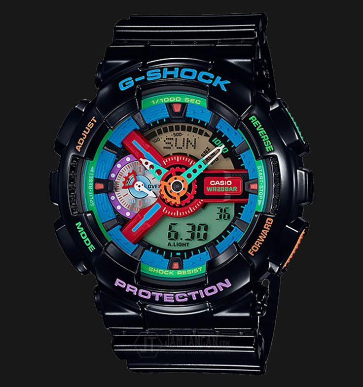 Beli jam tangan Casio G-Shock GA-110MC-1ADR - Water Resistance 200M Resin Band Limited Models - Daftar Harga jam termurah, review, spesifikasi lengkap Indonesia di Jamtangan.com