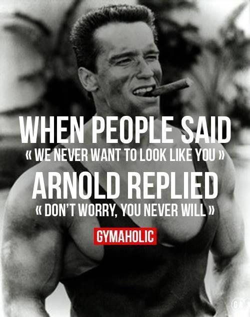 12aef22894fb3e3527b4e0ea1b2cfe1e don t worry gym quote oltre 20 migliori idee su arnold meme su pinterest jurassic park,Arnold Meme