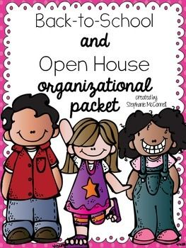 FREE! Back to School Open House organizational packet.  Please leave feedback after downloading!