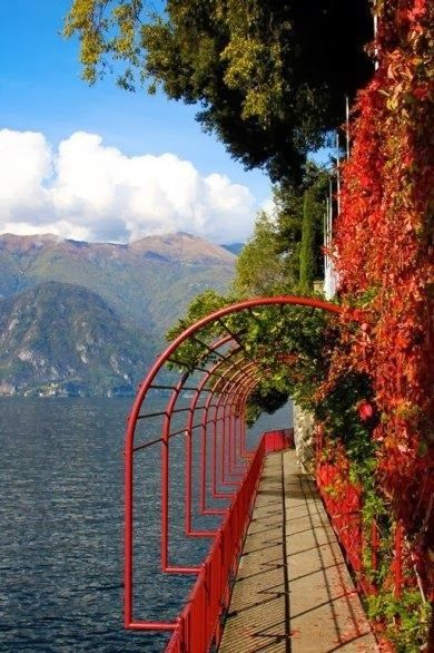 Lake Como, Italy. What a beautiful view and design. Explore my worlds at www.goldenrealmstories.com. Stories that take you exciting places.