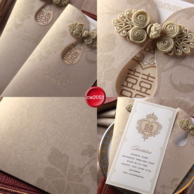 High quality Chinese style qipao wedding invitation