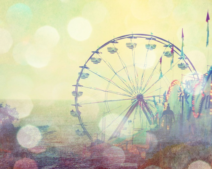ferris wheel photograph kids wall art print baby nursery ...
