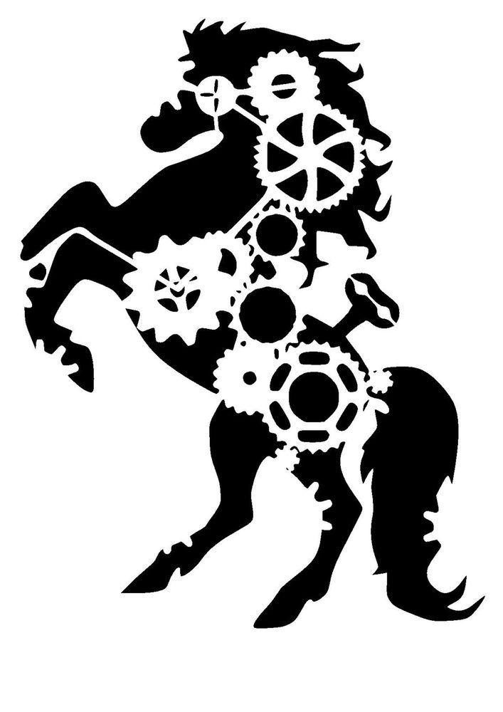 25 best steampunk stencils lovestencil ebay etsy images on pinterest steampunk cogs horse stencil craftfabricglassfurniturewall art gumiabroncs Gallery