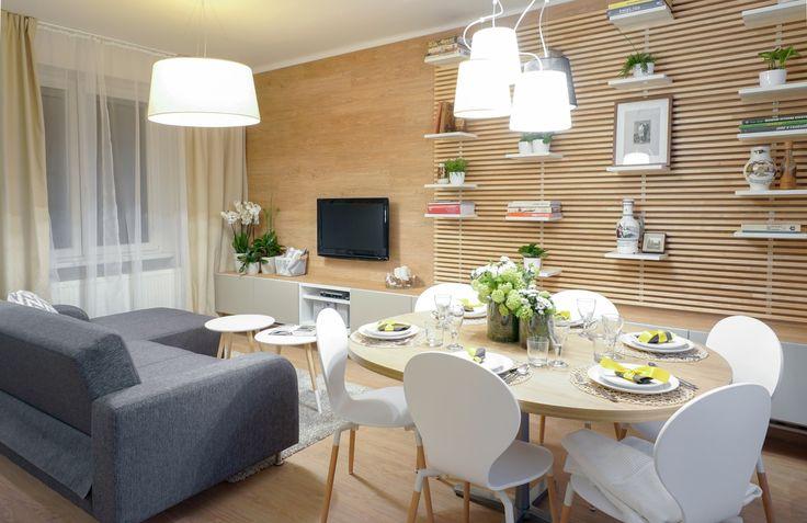 Obývačka s jedálenským kútikom