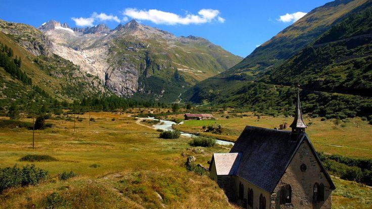 Lodowiec Aletsch, winnice Lavaux i Wallis w Szwajcarii