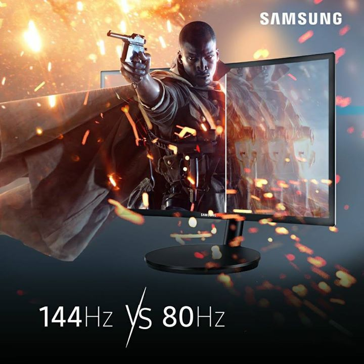 Samsung brings you the world's first QLED Curved Gaming Monitor with super fast 1 ms response time, 144hz screen refresh rate and AMD free sync to give you a flawlessly smooth gaming. It also comes with 3 years warranty. Size starts from: 24""