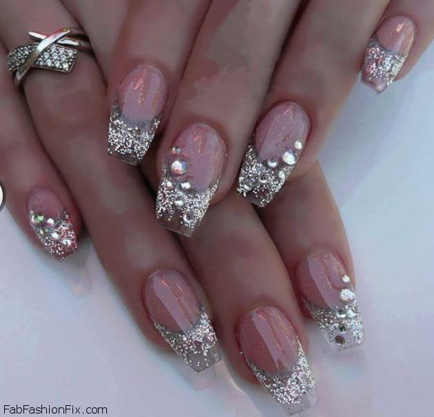 Fabulous glitter nails inspiration