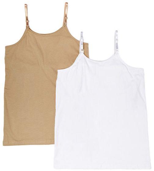 Nude & White Nursing Camisole Set