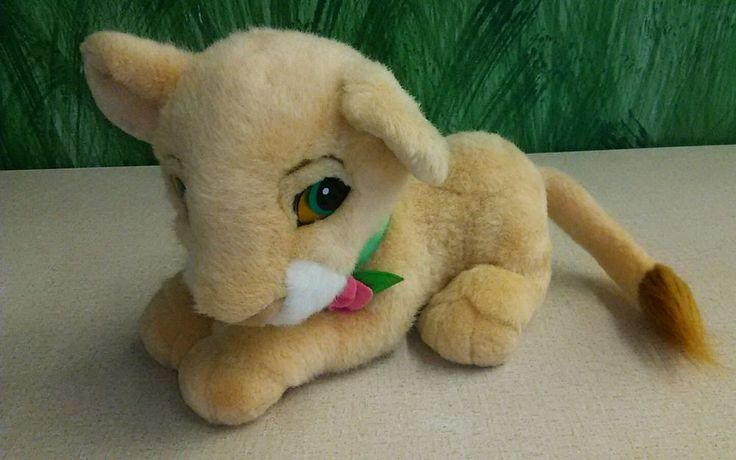 1993 Mattel Plush BABY SIMBA Cub LION KING Disney Stuffed Toy Original Purrs #Mattel