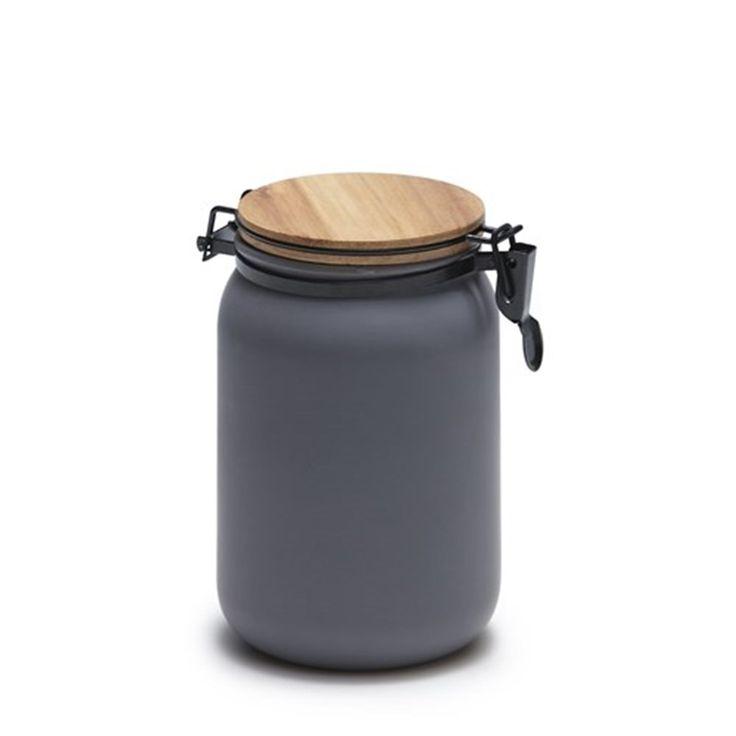 Salt & Pepper Hudson Canister 15 x 10cm Charcoal