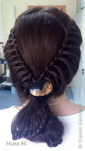 Прическа 8 марта День рождения Свадьба Плетение Косы Волосы фото 1