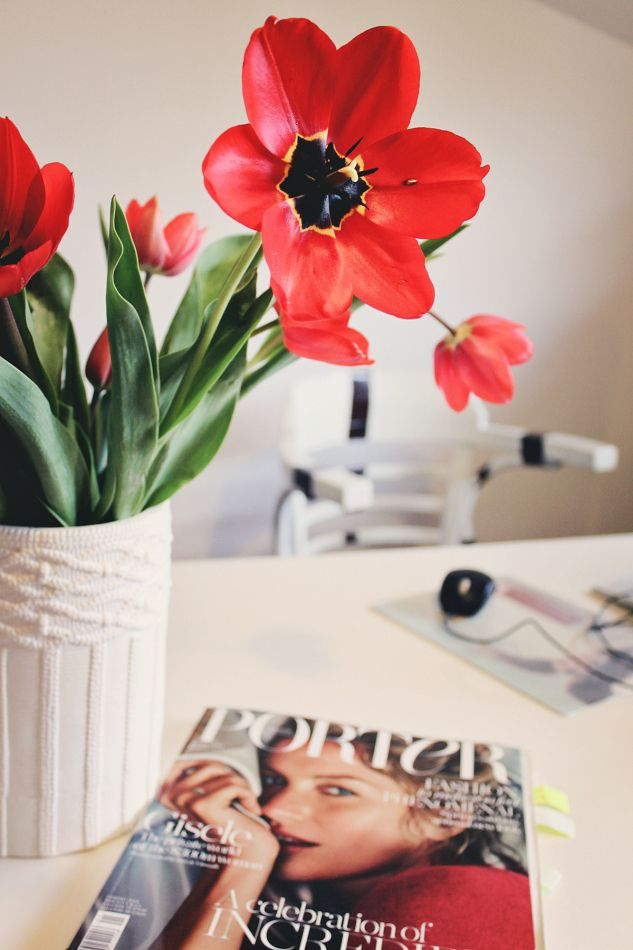 Beautiful Tulips in AER WEAR Showroom www.mauvert.com