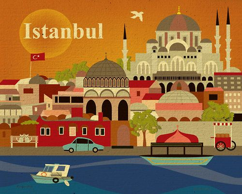 ...Istanbul travel poster