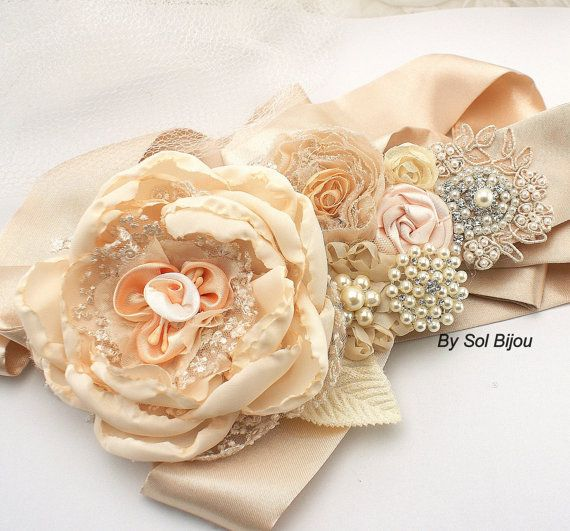 Hey, I found this really awesome Etsy listing at https://www.etsy.com/listing/173446931/bridal-sash-wedding-sash-in-soft-peach