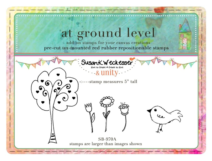 at ground level -  BRAND NEW by artist Susan Weckesser - Scrapbooking - Canvas Art - Mixed Media - SMASH books - EVERYTHING - enormous unique stamps at unity stamp company - available NOW!  http://www.unitystampco.com/shop/192-35-off-susan-weckesser.aspx