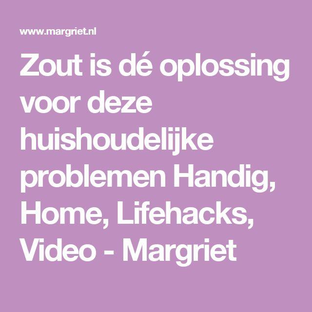 Zout is dé oplossing voor deze huishoudelijke problemen Handig, Home, Lifehacks, Video - Margriet