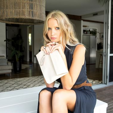 Stitch & Hide Lily Clutch - Ivory - The Style Merchant