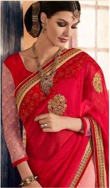 Red Color Georgette Designer Wear Style Saris Blouse | FH548982217 Follow @heenastyle << #designersarees, #partywearsareesonline, #sareeonline, #latestcollection, #bridalsaree, #cottonsaree, #bollywoodsarees, #onlineladiessarees, #sarees, #sari, #saris, #saree, #designersaris, #festivalssaris, #shoppingsareesonline, #onlineindiandesignerbollywoodsarees, #fashionsaris, #weddingsarees, #newstylistIndiansarees, #silksaree, #heenastyle, #heenastylesari #hennasari, #readytowaersaree…