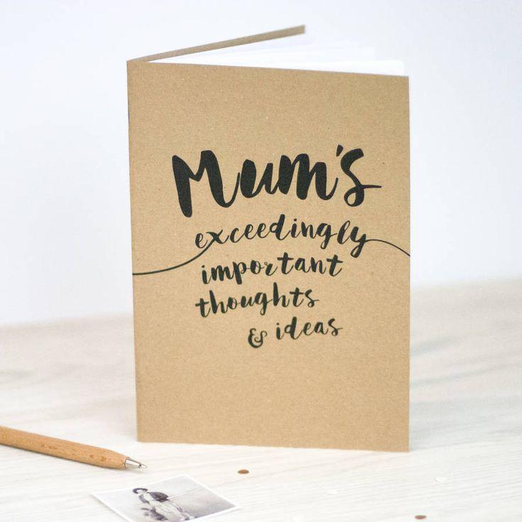 Mum's Notebook – Little Pieces