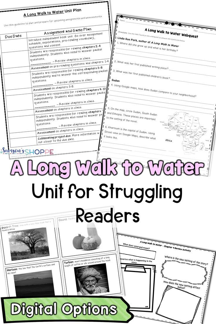 A Long Walk To Water Guide Your Struggling Readers Into Comprehending This Novel That Is Bas Struggling Readers Upper Elementary Resources Long Walk To Water [ 1104 x 736 Pixel ]