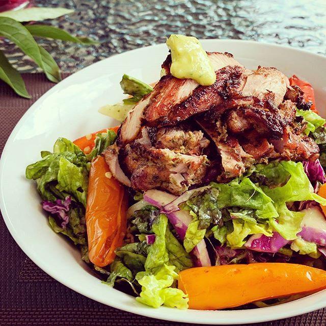 jerk chicken salad with mango kednycuisine salade sant au poulethellip