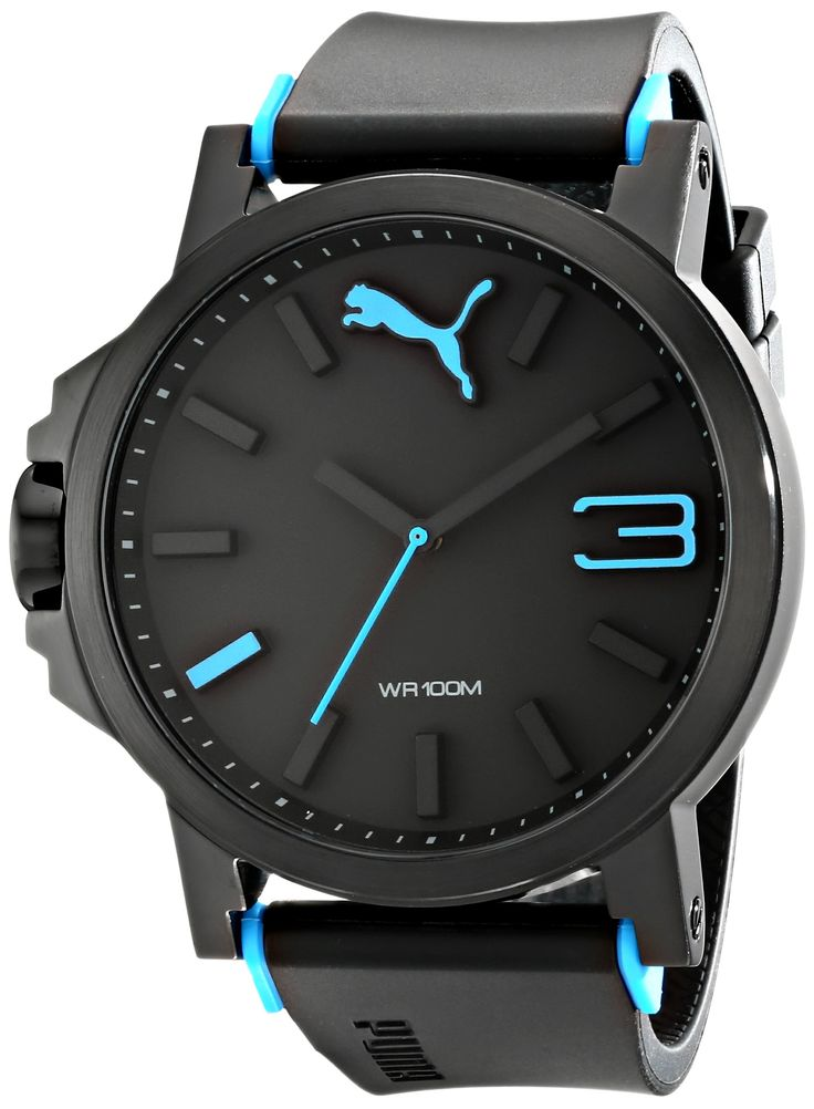 Amazon.com: PUMA Men's PU102941004 Ultrasize 50 Gold Analog Display Japanese Quartz Black Watch: Puma: Watches