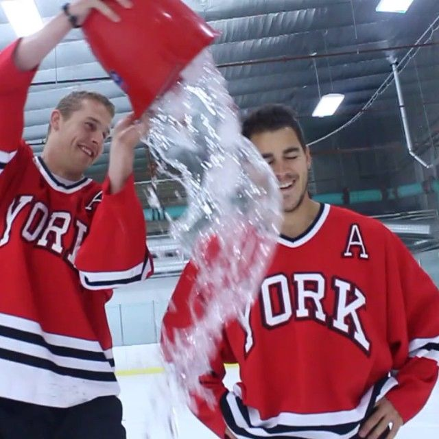 The past and present hockey Lions got it pretty good yesterday for the #ALSIceBucketChallenge in support of former Lion Kyle Ruppe! Full video up soon. To learn more about ALS and to donate please visit www.als.ca. #yorku #lionpride #alwaysalion #yorklions
