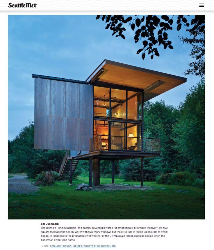 Sol Duc Cabin in Washington by Olson Kundig Artchitects (featured in Seattle Met Magazine)