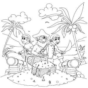 Wonderful Pirate Clip Art and Coloring Pages for Kids