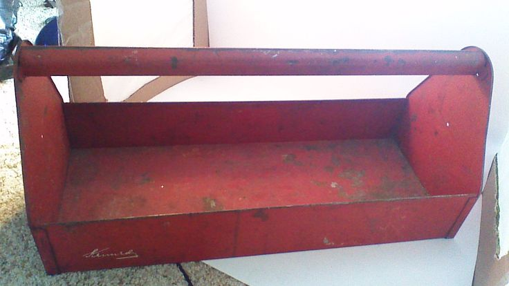 Sturdy Red Kennedy Tool Box or Carpenter Box by SpencersStuff on Etsy