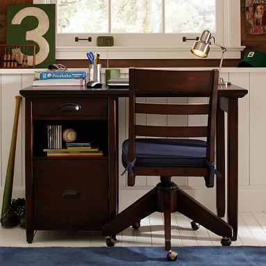 Chatham Small Storage Desk + Hutch #pbteen simple nice in white , PB teen so 25% off Desk $599 and hutch $399