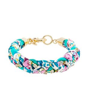 Liberty Crystal Braid Bracelet from Jcrew