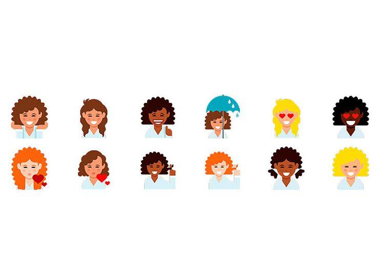 Llegan los emojis con el pelo rizado