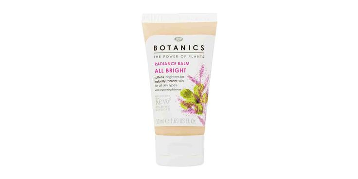 """Energize skin in seconds by rubbing in this light balm, which imparts a fresh, """"subtle"""" pinkness. Boots Botanics All Bright Radiance Balm, $13, Target  - GoodHousekeeping.com"""