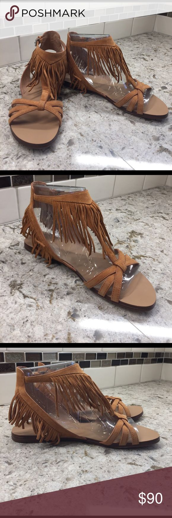"Sigerson Morrison ""Bross"" kid skin fringe sandal New in box beautifully crafted all leather sandal.  Fun Suede fringe detail uppers and all leather stitched sole! Sigerson Morrison Shoes Sandals"