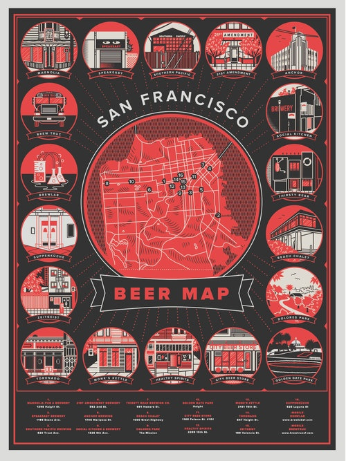 Flyer Goodness: SF Beer Week 2013 Posters